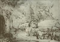 Rembrandt Harmensz. van Rijn: Moses at the Burning Bush