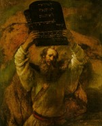 Rembrandt Harmensz. van Rijn: Moses Smashing the Tables of the Law