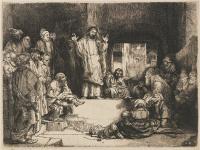 Rembrandt Harmensz. van Rijn: Jesus Preaching
