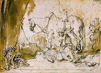 The Good Samaritan Tends the Wounded Man
