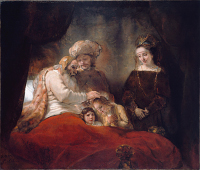 Rembrandt Harmensz. van Rijn: Jacob Blessing the Children of Joseph