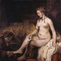 Rembrandt Harmensz. van Rijn: Bathing Bathsheba