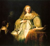 Rembrandt Harmensz. van Rijn: Judith at the banquet of Holofernes