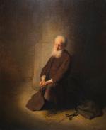 Rembrandt Harmensz. van Rijn: St. Peter Kneeling