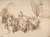 Rembrandt Harmensz. van Rijn: Nathan Admonishes David