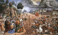 Cosimo Rosselli: The Crossing of the Reed Sea