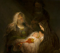 Arent de Gelder: Simeon and Anna Praise the infant Jesus