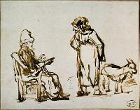 Rembrandt Harmensz. van Rijn: Tobit and Anna with the Goat (c. 1645)