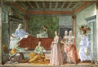 Domenico Ghirlandaio: The Birth of John the Baptist