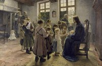Fritz von Uhde: Let the children come to me