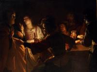 Gerard (Gerrit) van Honthorst: The Denial of Peter