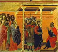 Duccio di Buoninsegna: Christ before Pilate