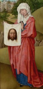 Veronica shows the cloth